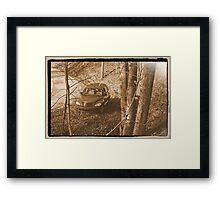 Along Time Warp Road Framed Print