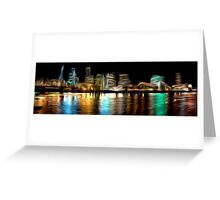 Portland Oregon Nightscape Abstract Oil Painting Greeting Card