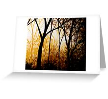 Abstract Trees Oil Painting #7 Greeting Card
