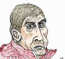 Kenny Dalglish Cartoon Caricature by Grant Wilson