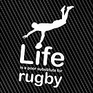 Rugby v Life - Carbon Fibre Finish by Ron Marton