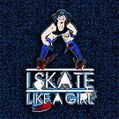 Blue Psychotic - Skate like a Girl - Iphone cover by trossi