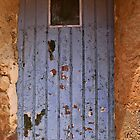 Blue door in southern France  by KSKphotography
