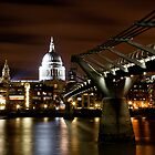 St. Pauls by Night by Mark Hood