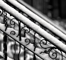 Snow Covered Bannister by Robert Ullmann