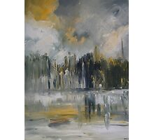 Summer Waters,City Spires Photographic Print