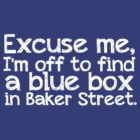 Blue Box in Baker Street by inkandstardust