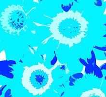 Turquoise Daisy - JUSTART © by JUSTART