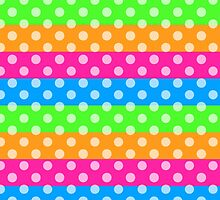 Fluorescent Rainbow with Polka Dots  by runninragged