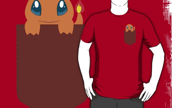 Charmander in my Pocket by Otherbuttons