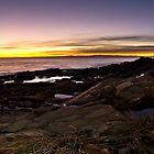 Nerves coast at sunset by guido nardacci