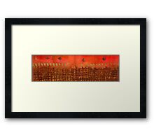 That Long Brown Fence Dividing YOU and Me Framed Print