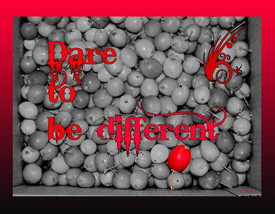 Dare To Be Different - Box Of Apples by Sandra Foster