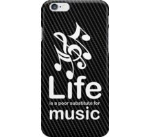 Music v Life - White Graphic iPhone Case/Skin