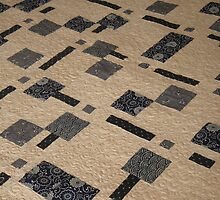 Japanese Squares Quilt by Helen  Richards