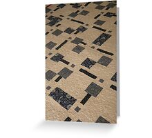 Japanese Squares Quilt Greeting Card