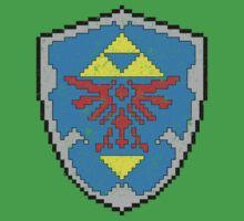 8-Bit Hylian Shield by WUVWA