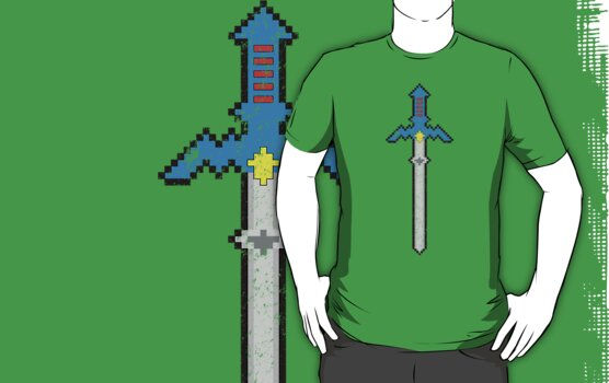8-Bit Master Sword by WUVWA