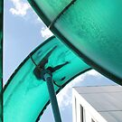 looking up at a water  slide by sharon wingard