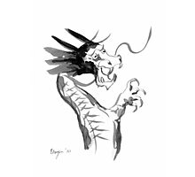 Imperial Dragon - Japanese Brush Painting Photographic Print
