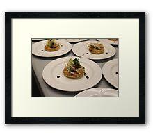 Pear Tartlet  with Cabrelese Blue Framed Print