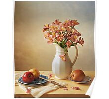 Lilies and Apples Poster