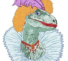 Elizabethasaurus Reginanychus the First by redqueenself