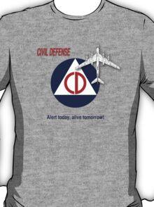 Civil Defense - Bomber T-Shirt