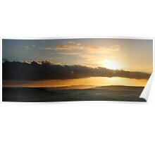 Cloud Bank, Sunset from Mam Tor Poster