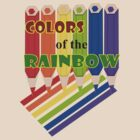Rainbow Color  Pencils :Tshirt (1397 Views) by aldona