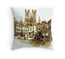 Beautiful Britain - Lincoln Cathedral, Lincolshire Throw Pillow
