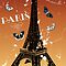 Paris - vintage poster with eiffel tower, butterflies and french by schtroumpf2510