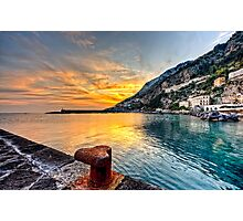 Sunset in Amalfi Photographic Print