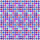Poke-A-Dots - Purple Negative [iPhone case] by Damienne Bingham