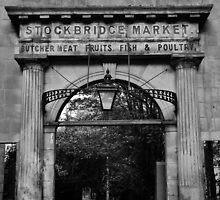 Stockbridge Market entrance in Edinburgh by Mark  Johnstone