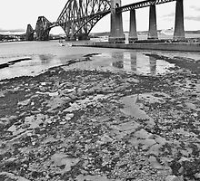 Low tide under the Forth Bridge by Mark  Johnstone