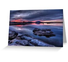 Cold Water Sunset Greeting Card