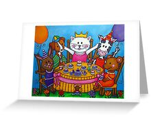 The Little Tea Party Greeting Card