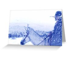 Capt. Call in a Snowstorm Greeting Card