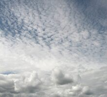 Chaotic sky by Jane Corey