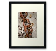 Flaky Links Framed Print