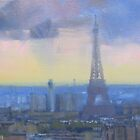 Approaching storm, Paris by Tash  Luedi Art