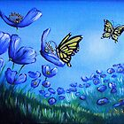 Blue Poppies in the Meadow by Cherie Roe Dirksen
