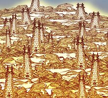 Towers in the Rock Fields by Grant Wilson