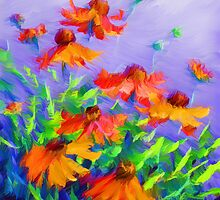 Blowing In The Wind by Romanovna Fine Art Prints