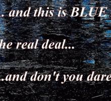 Blue Ice Breaking Bad Sticker