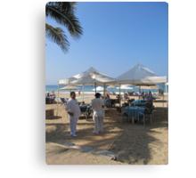 Breakfast at the Beach - Desayuno en la Playa Canvas Print