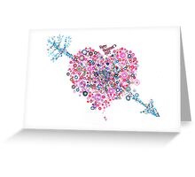 Abstract Pattern Valentine Greeting Card