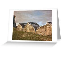 Holy Island's new boat sheds Greeting Card