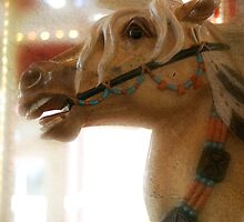 Carousel horse, digital artwork. by Donna Ridgway